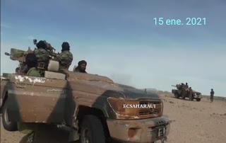 GUERRA EN EL SAHARA   Parte de guerra Nº64