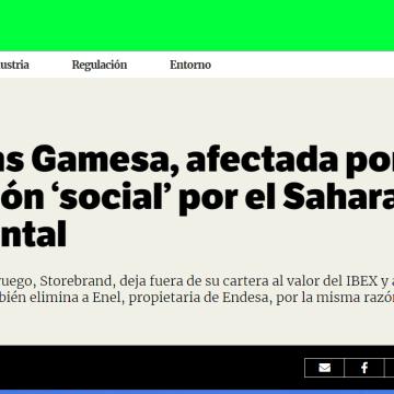 Siemens Gamesa, afectada por la exclusión 'social' por el Sahara Occidental | Social Investor