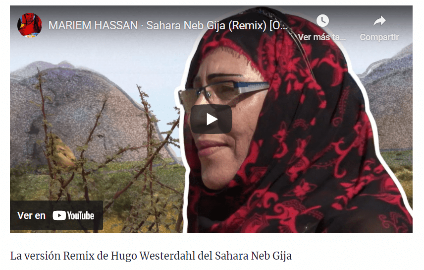 MARIEM HASSAN · Sahara Neb Gija (Remix) [Official Video] – promonubenegra