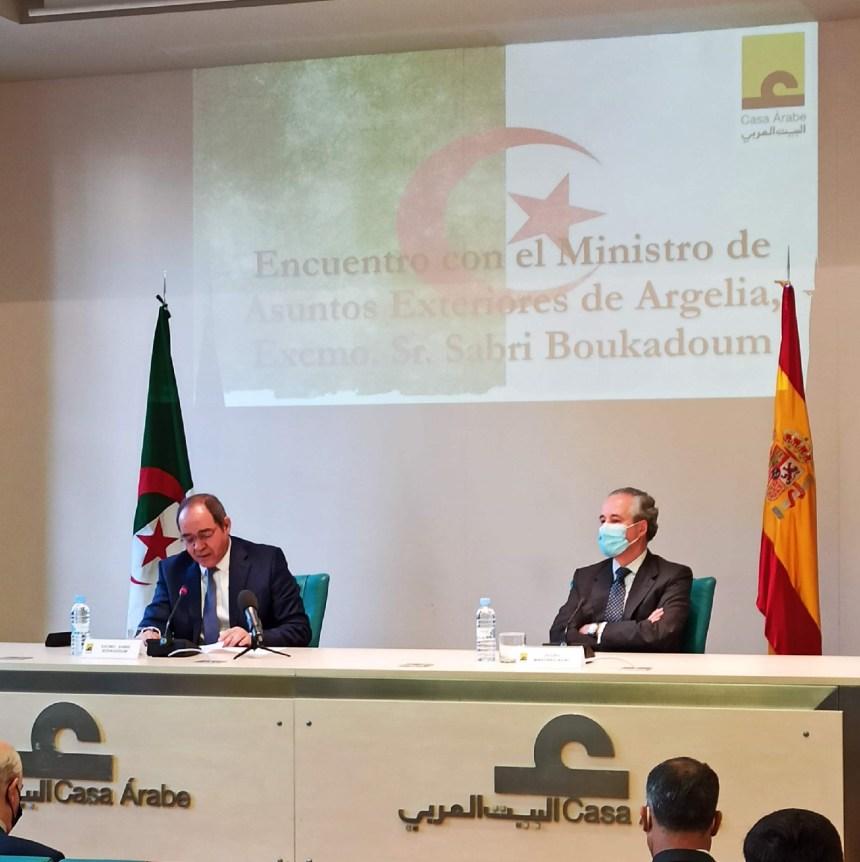 El Ministro de Exteriores de Argelia realiza una visita oficial a España por invitación de González Laya