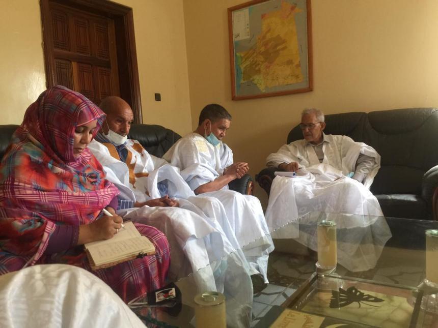 Recibe el Presidente del Partido de la Alianza Democrática mauritano a Bachir Mustafa Sayed | Sahara Press Service