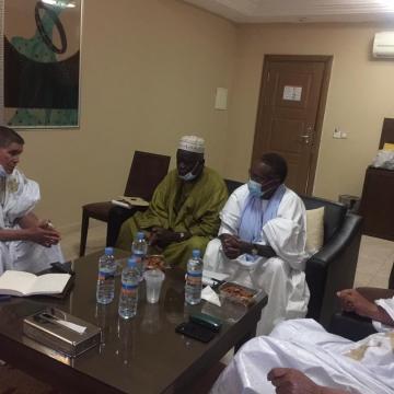 El ministro Consejero encargado de asuntos políticos en la Presidencia de la República, se reúne con miembros del grupo parlamentario mauritano de amistad con la RASD   Sahara Press Service