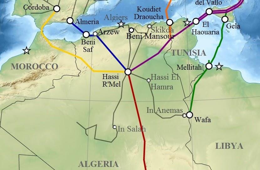 Argelia no proporcionará más gas a Marruecos a partir del 1 de Enero de 2022