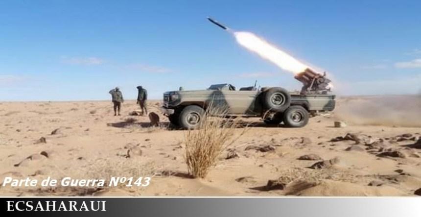 GUERRA EN EL SAHARA   Parte de guerra Nº143