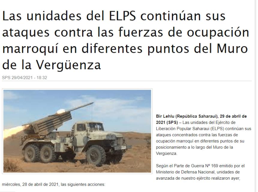 Las unidades del ELPS continúan sus ataques contra las fuerzas de ocupación marroquí en diferentes puntos del Muro de la Vergüenza | Sahara Press Service