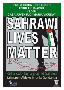 ESTELLA-LIZARRA | Proyección del documental 'Sahrawi Lives Matter' este viernes 18 de abril – #CinemaSaharaui