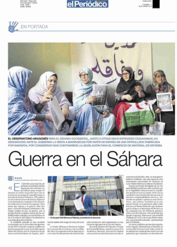 Guerra en el Sáhara – Observatorio Aragonés para el Sáhara Occidental