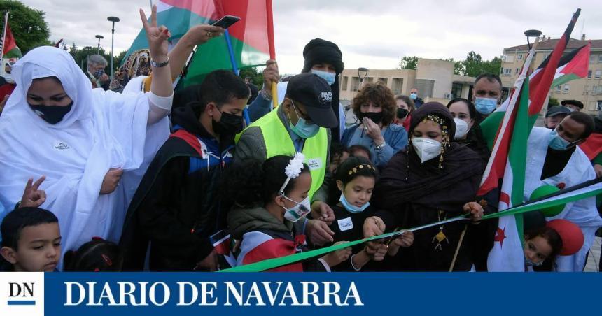 Unas 500 personas participan en la 'Marcha por la Libertad del Pueblo Saharaui' #MarchaSaharaui | Diario de Navarra