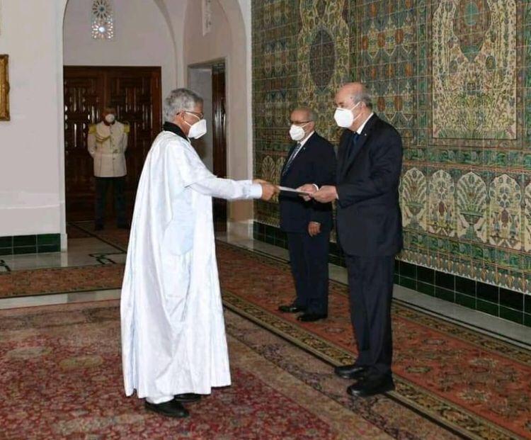 Abdelkader Taleb Omar presenta sus cartas credenciales como Embajador Extraordinario y Plenipotenciario de la RASD ante Argelia | Sahara Press Service