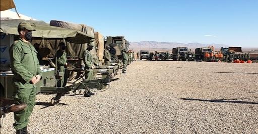 GUERRA DEL SAHARA   El ejército marroquí levanta un hospital de campaña en Guelmim para tratar a sus heridos