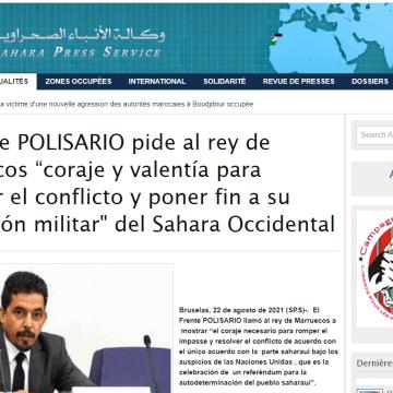 """El Frente POLISARIO pide al rey de Marruecos """"coraje y valentía para resolver el conflicto y poner fin a su ocupación militar» del Sahara Occidental   Sahara Press Service"""