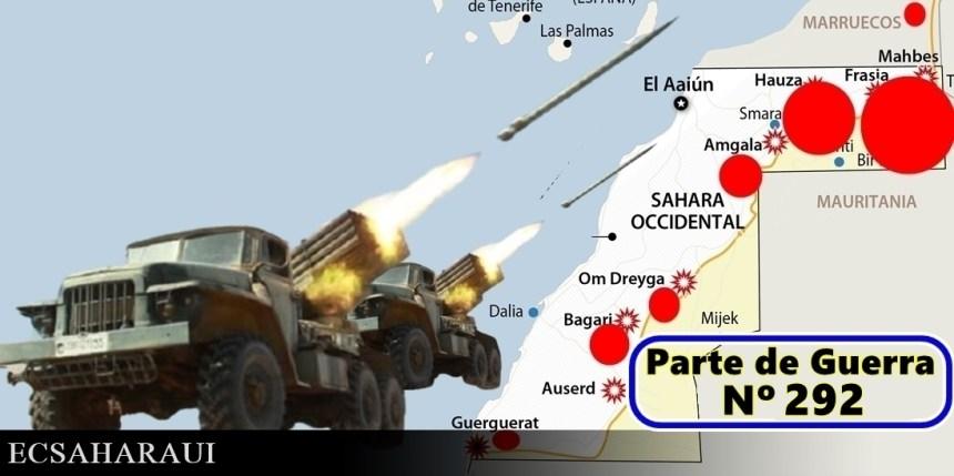 GUERRA EN EL SAHARA   Parte de Guerra Nº 292