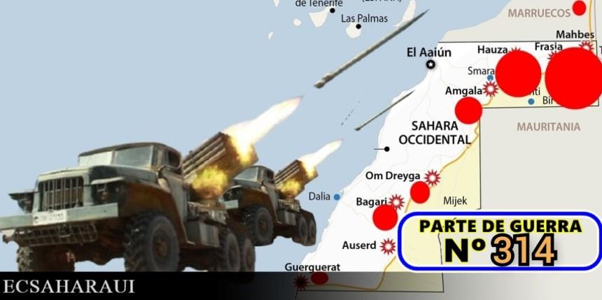 GUERRA EN EL SAHARA   Parte de Guerra Nº 314