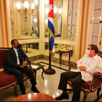 Canciller de Cuba recibe a representante del Sahara Occidental
