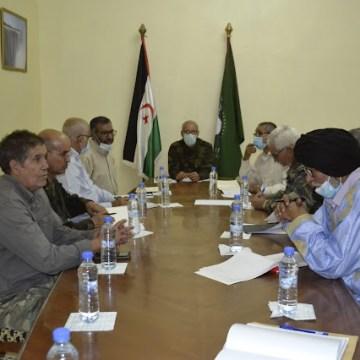 Brahim Ghali preside una reunión del Buró permanente del Frente Polisario