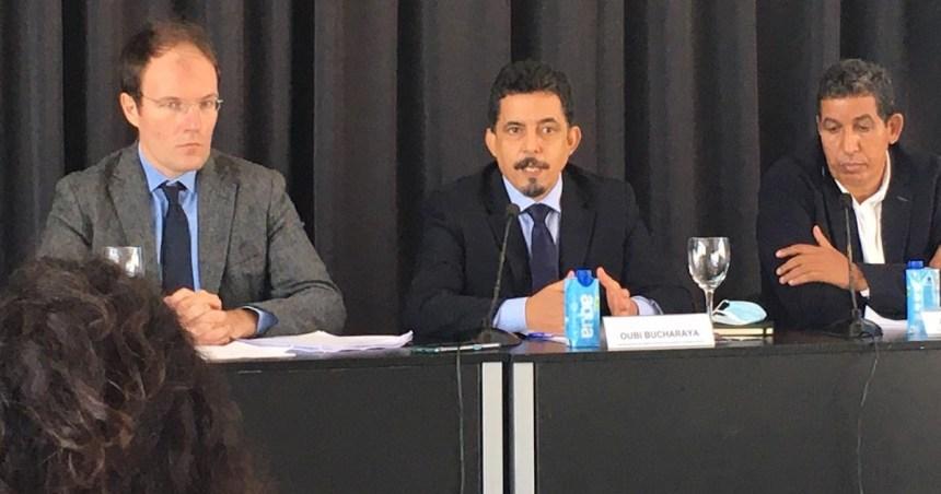 Frente Polisario: rueda de prensa en Madrid a raíz de la sentencia del TGUE que anula los acuerdos comerciales con Marruecos por incluir el territorio del Sáhara Occidental, pendiente de descolonización