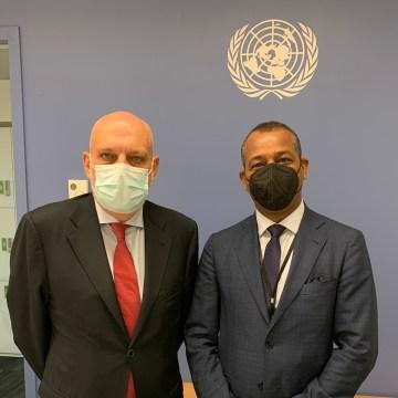 Le représentant du Front Polisario s'entretient avec le chef de la MINURSO | Sahara Press Service