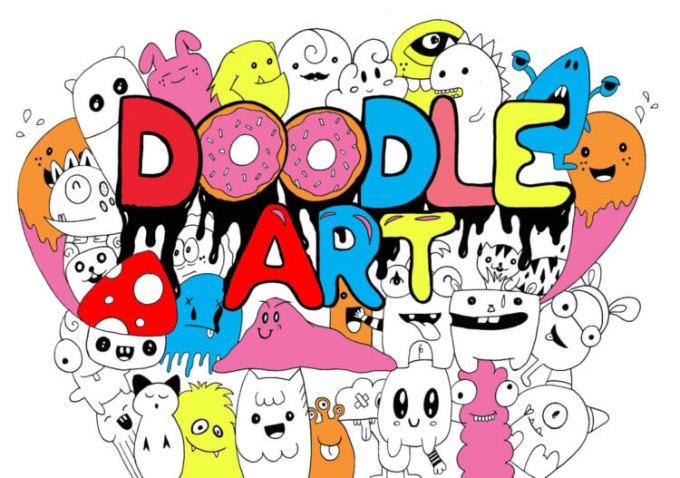 Ragam karakter dalam doodle art