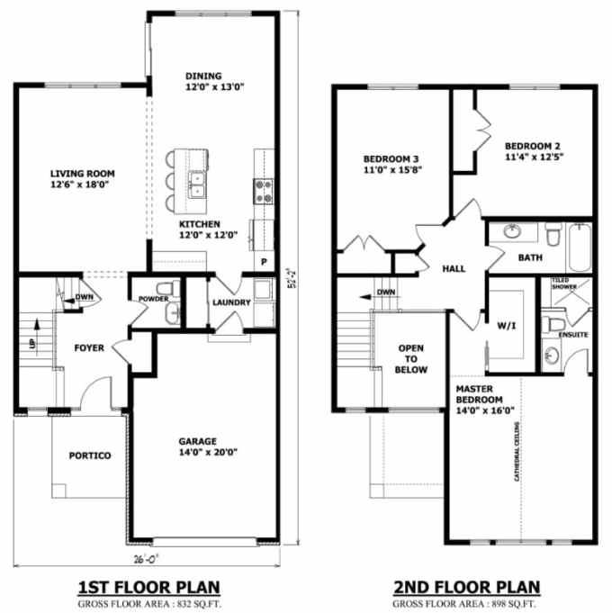Desain Rumah Minimalis Urban 2 lantai