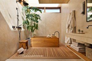 desain kamar mandi minimalis gaya oriental