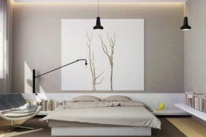 desain kamar tidur minimalis artistik
