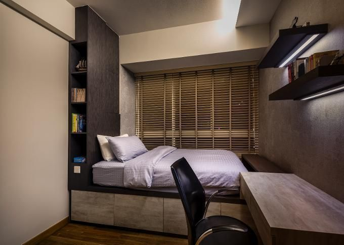 desain kamar tidur minimalis maskulin