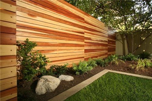 desain pagar rumah minimalis nuansa alami