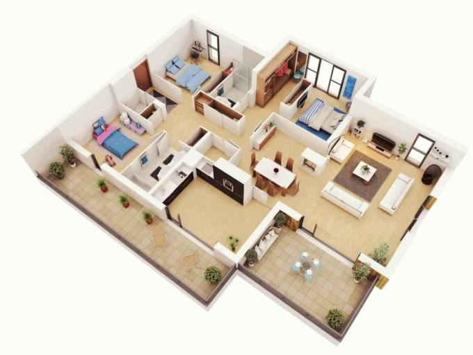 desain rumah minimalis 1 lantai 3 kamar
