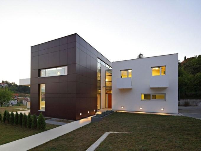 desain rumah minimalis monokrom