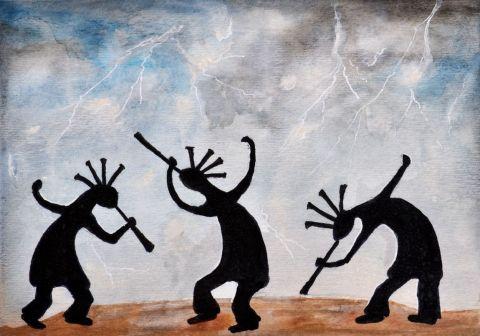 رقصِ بارانِ انسانِ مدرن