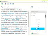 Annotationsansicht - Texte werden automatisch annotiert. Annotation kann geändert/ergänzt werden