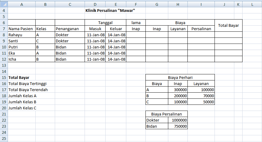 Ini adalah fungsi yang paling dasar dalam ms. Latihan Soal Excel Dengan Fungsi Logika Vlookup Dan If Notesanom