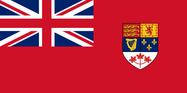 """""""Canadian Red Ensign 1957-1965"""" by Denelson83, http://commons.wikimedia.org"""