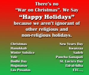 no war on christmas