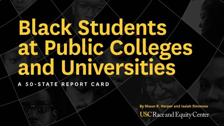 Black Students at public colleges and universities a 50 state report card