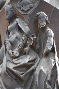 Carved wooden statue, Tours, France