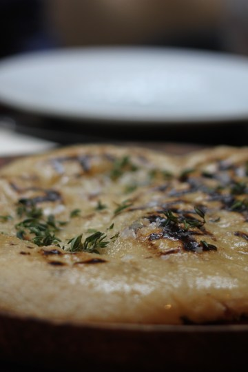 Grilled Flatbread with Honey, Thyme and Smoked Butter