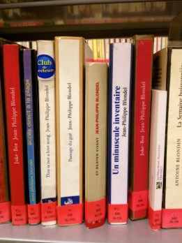 At the Troyes library...the novels written by a teacher at my school.