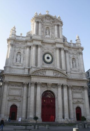St. Paul St. Louis in the Marais. Beautifully repainted and restored.