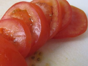 tomatoes, sliced