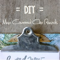 DIY :: Map Covered Clip Boards
