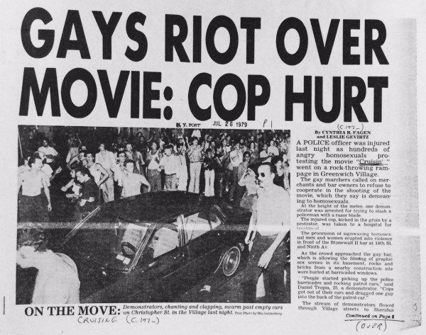 Gays Riot Over Movie