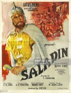 A poster for Youssef Chahine's 1963 action film 'Saladin' (original title: 'El Naser Salah el Dine') starring Ahmed Mazhar. (Photo by Movie Poster Image Art/Getty Images)