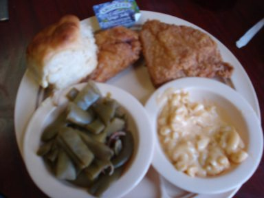 Plate lunch at Nashville Biscuit House meat-and-three