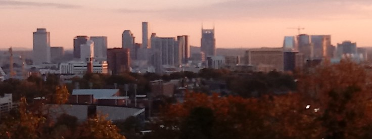 Something different (and easy) View the Nashville skyline from Love Circle