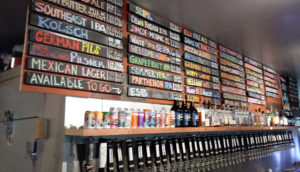 Liquor: beer choices at Tailgate Brewery on Music Row