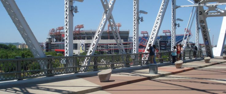 Nashville Pedestrian bridge to NFL Fan Experience