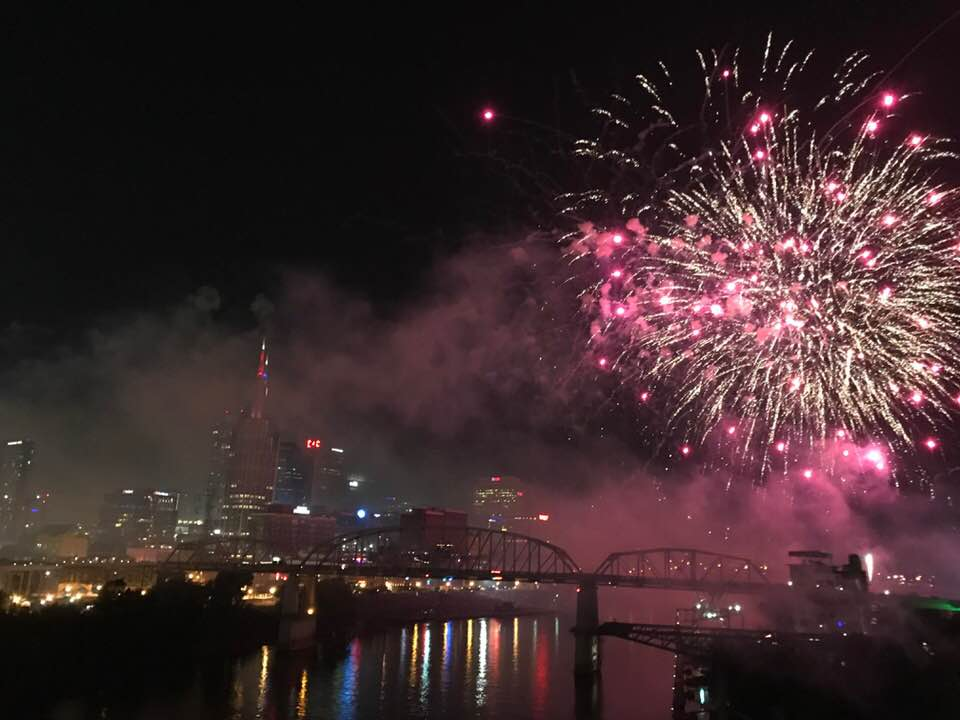 New Years Eve fireworks in Nashville