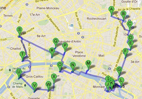 Paris map, FR (2011-10)