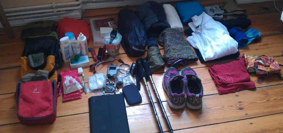 The content of my backpack (2014-03-22)